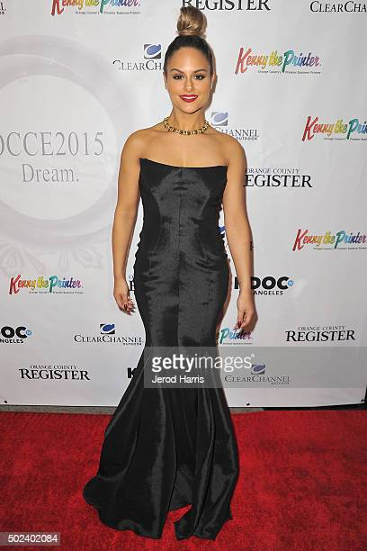 Singer Pia Toscano attends the OC Christmas Extravaganza Concert and Ball at Christ Cathedral on December 23 2015 in Garden Grove California