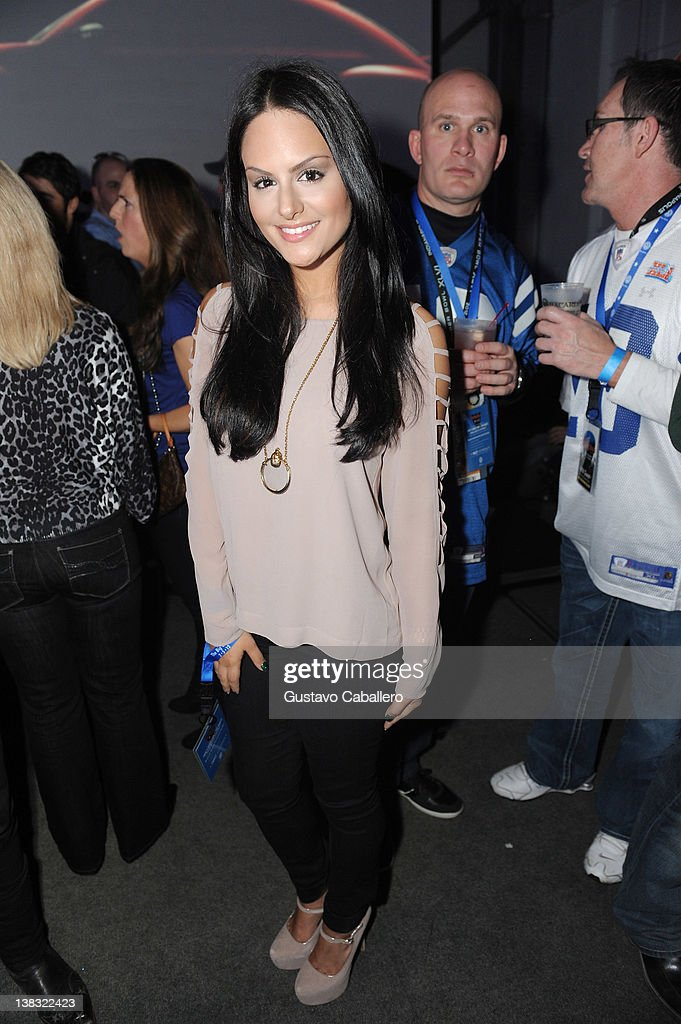 Singer Pia Toscano attends The Rolling Stone Volkswagen Rock & Roll Fan Tailgate Party at The Crane Bay on February 5, 2012 in Indianapolis, Indiana.