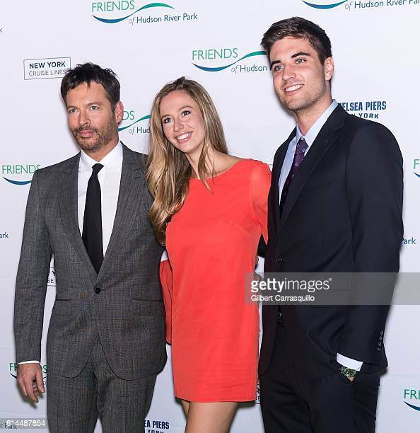 Singer pianist talk show host actor Harry Connick Jr Georgia Tatum Connick and guest attend the 2016 Friends Of Hudson River Park Gala at Hudson...