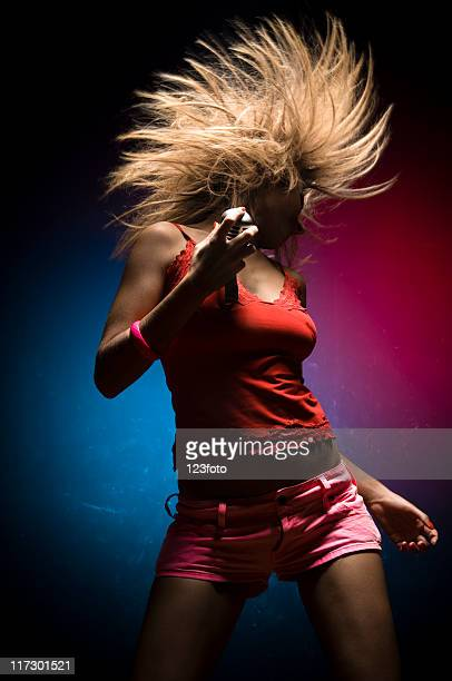 singer - blonde female singers stock photos and pictures