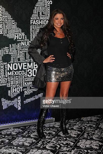 Singer Pilar Montenegro attends the Christmas Playboy Mexico magazine party at the Ragga Antara Polanco on November 30 2011 in Mexico City Mexico
