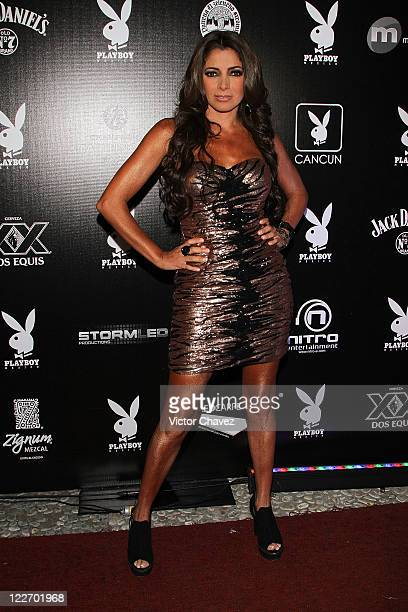 Singer Pilar Montenegro attends the Playboy Mexico magazine party at Lomas de Chapultepec on August 27 2011 in Mexico City Mexico