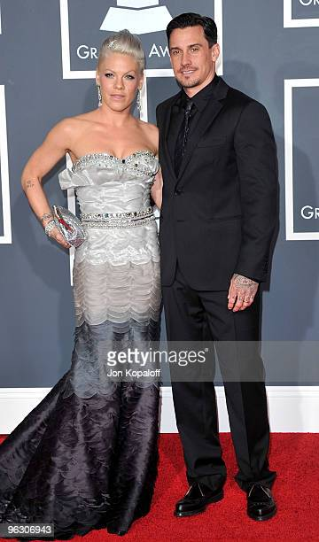 Singer Pink and husband Carey Hart arrive at the 52nd Annual GRAMMY Awards held at Staples Center on January 31, 2010 in Los Angeles, California.