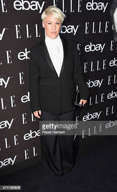 Singer Pink arrives at the 6th Annual ELLE Women In Music Celebration Presented By eBayat Boulevard3 on May 20 2015 in Hollywood California