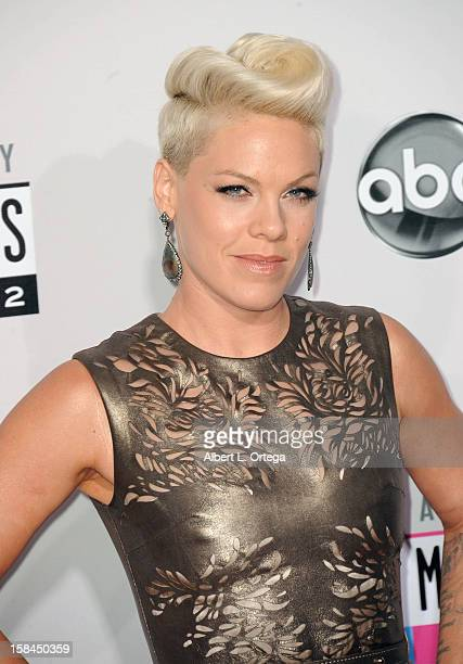 Singer Pink arrives for the 40th Anniversary American Music Awards Arrivals held at Nokia Theater LA Live on November 18 2012 in Los Angeles...