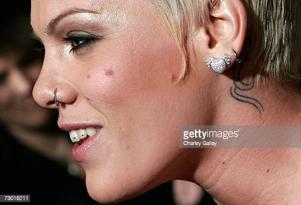 Singer Pink arrives the EMA E Golden Green After Party held at the Beverly Hilton on January 15 2007 in Beverly Hills California