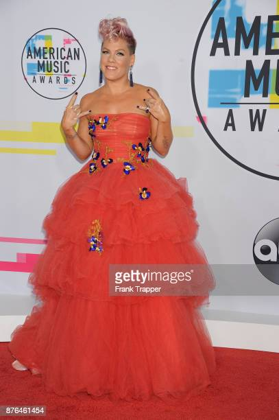Singer Pink attends 2017 American Music Awards at Microsoft Theater on November 19 2017 in Los Angeles California