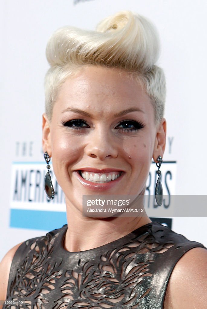Singer Pink attends the 40th American Music Awards held at Nokia Theatre L.A. Live on November 18, 2012 in Los Angeles, California.