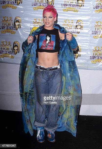 Singer Pink attends the Sixth Annual Soul Train Lady of Soul Awards on September 2 2000 at the Santa Monica Civic Auditorium in Santa Monica...