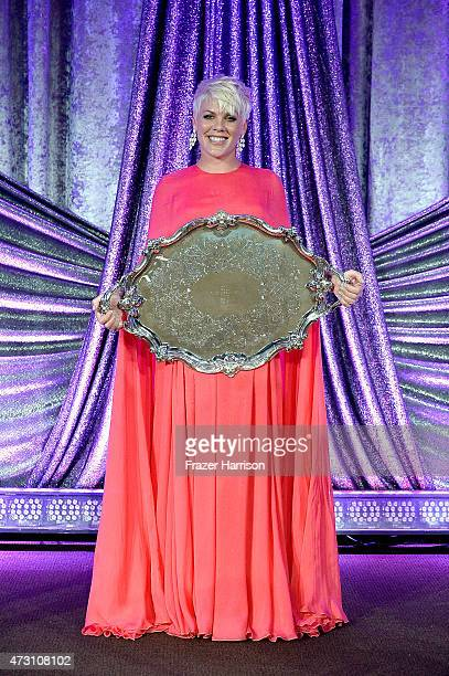 Singer Pink is honored on stage at the 63rd Annual BMI Pop Awards show at Regent Beverly Wilshire Hotel on May 12 2015 in Beverly Hills California