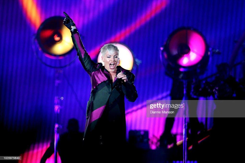 PINK Beautiful Trauma World Tour 2018 - Dunedin : News Photo