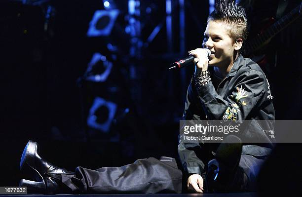 Singer Pink performs live on stage at the Rumba Music Festival at Telstra Dome on December 8 2002 in Melbourne Australia The one day music festival...