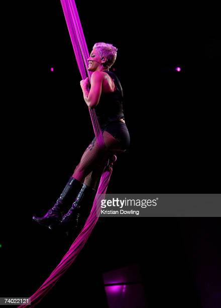Singer Pink performs on stage at the third annual MTV Australia Video Music Awards 2007 at Acer Arena on April 29, 2007 in Sydney, Australia.