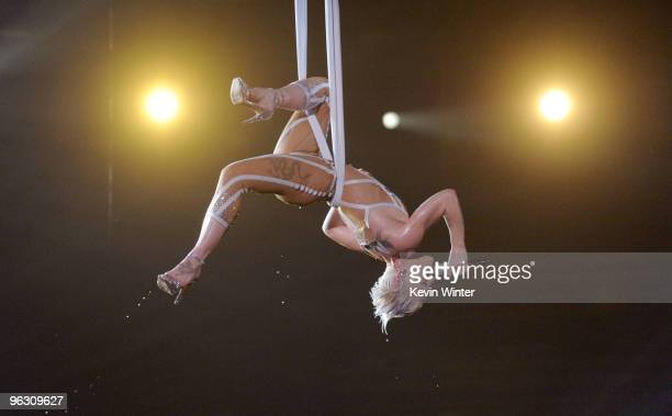 Singer Pink performs onstage during the 52nd Annual GRAMMY Awards held at Staples Center on January 31, 2010 in Los Angeles, California.