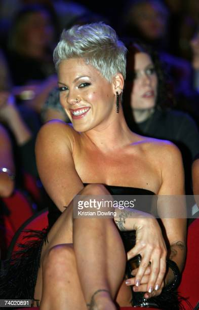 Singer Pink poses during the show at the third annual MTV Australia Video Music Awards 2007 at Acer Arena on April 29, 2007 in Sydney, Australia.