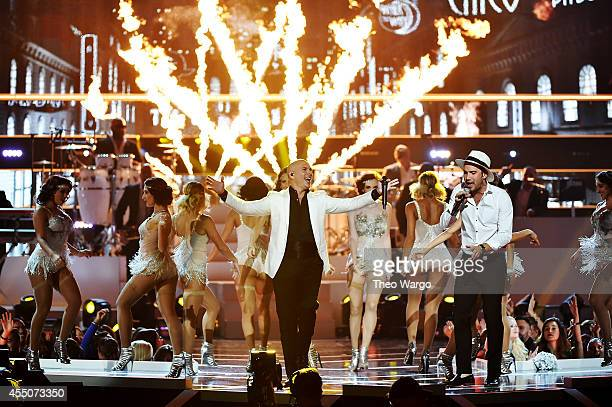 Singer Pitbull performs onstage at Fashion Rocks 2014 presented by Three Lions Entertainment at the Barclays Center of Brooklyn on September 9 2014...