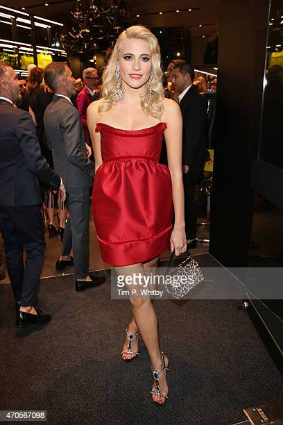 Singer Pixie Lott attends the DSQUARED2 celebration of London Flagship Opening on April 21 2015 in London England