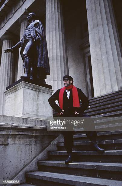 Singer Placido Domingo posing for a photo on November 10 1985 in New York New York