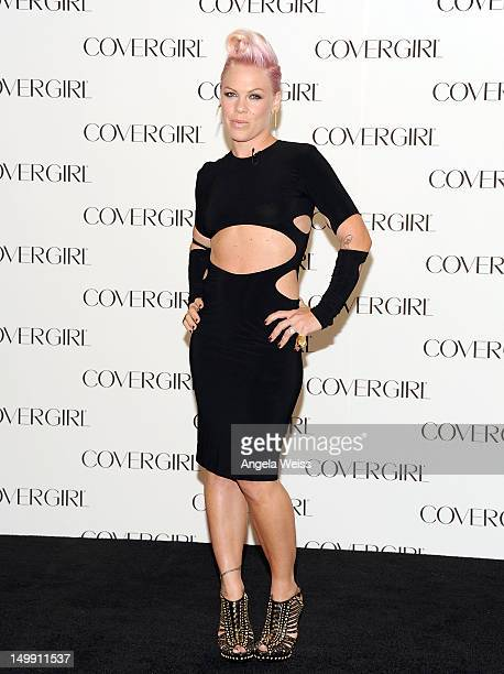 Singer Pnk is announced as the newest face of COVERGIRL Cosmetics at Shutters On The Beach on August 6 2012 in Santa Monica California