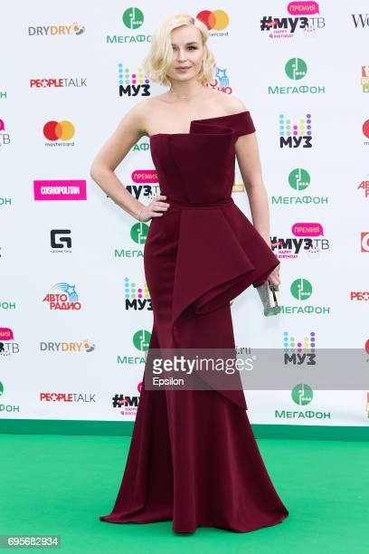 Singer Polina Gagarina aheads of the 2017 MuzTV Music Awards ceremony at Olimpiyskiy Stadium on June 9 2017 in Moscow Russia