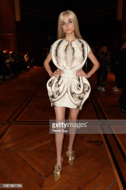 Singer Poppy attends the Iris Van Herpen Haute Couture Spring Summer 2019 show as part of Paris Fashion Week on January 21 2019 in Paris France