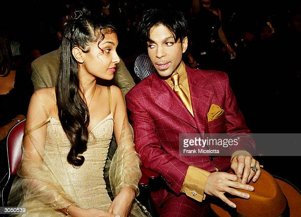 Singer Prince and his wife Manuela Testolini sit in the audience at the 35th Annual NAACP Image Awards held at the Universal Amphitheatre March 6...