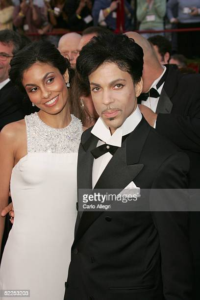 Singer Prince and Manuela Testolini arrive at the 77th Annual Academy Awards at the Kodak Theater on February 27 2005 in Hollywood California