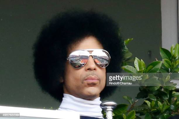 Singer Prince attend the Roland Garros French Tennis Open 2014 Day 9 on June 2 2014 in Paris France