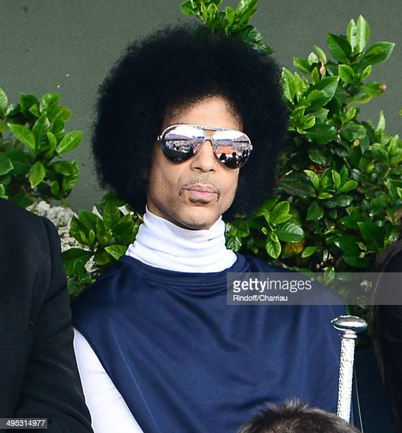 Singer Prince attends the Roland Garros French Tennis Open 2014 on Day 9 at Roland Garros on June 2 2014 in Paris France
