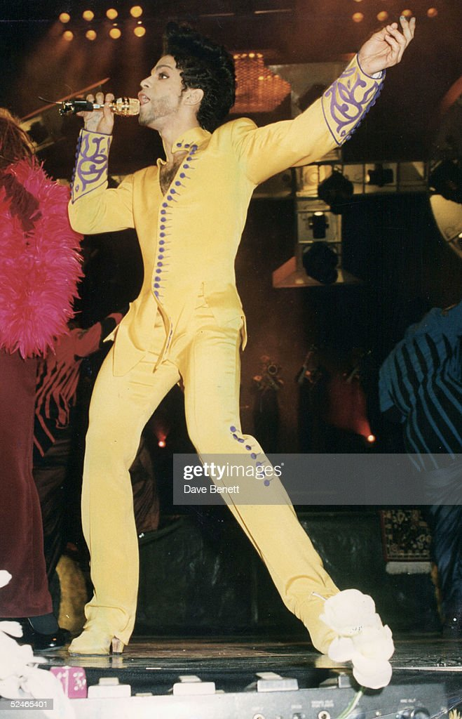 Singer Prince in concert on June 16, 1992 in London, England.
