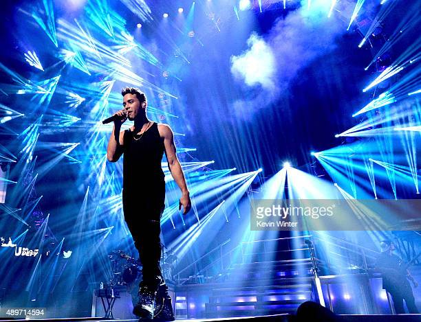 Singer Prince Royce performs at the 2015 iHeartRadio Music Festival at the MGM Grand Garden Arena on September 19 2015 in Las Vegas Nevada