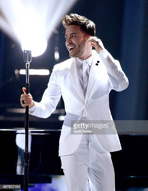Singer Prince Royce performs onstage during the 16th Latin GRAMMY Awards at the MGM Grand Garden Arena on November 19 2015 in Las Vegas Nevada