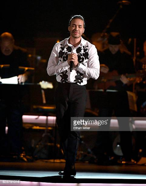 Singer Prince Royce performs onstage during the 2016 Person of the Year honoring Marc Anthony at MGM Grand Garden Arena on November 16 2016 in Las...