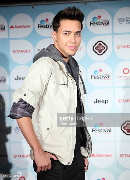 Singer Prince Royce poses backstage during People En Espanol's Festival 2012 held at the Alamodome on September 2, 2012 in San Antonio, Texas.