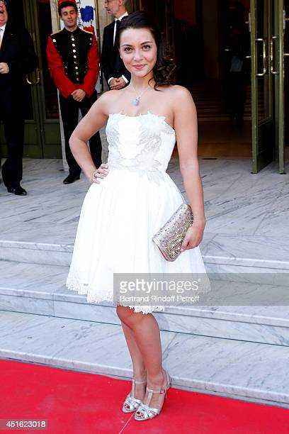 Singer Priscilla Betti attends the '20th Amnesty International France' Gala at Theatre des ChampsElysees on July 2 2014 in Paris France