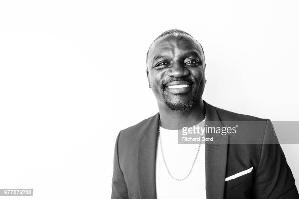 Singer producer and entrepreneur Akon poses after the Gabbcon session during the Cannes Lions Festival 2018 on June 18 2018 in Cannes France