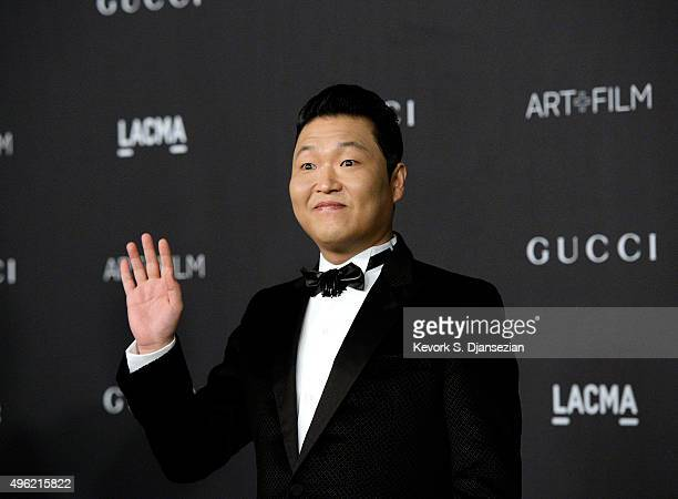 Singer Psy attends attends the LACMA Art Film Gala honoring Alejandro G Iñárritu and James Turrell and presented by Gucci at LACMA on November 7 2015...