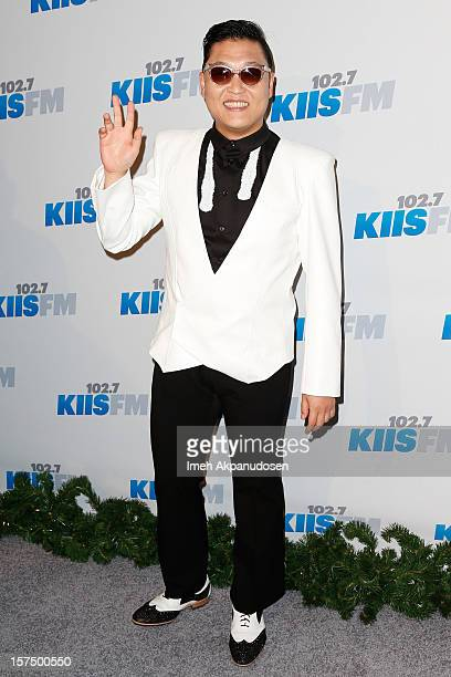 Singer PSY attends KIIS FM's 2012 Jingle Ball at Nokia Theatre LA Live on December 3 2012 in Los Angeles California