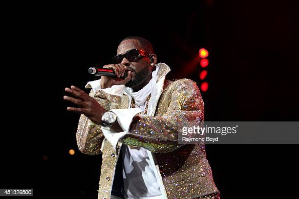 Singer R Kelly performs at the United Center during the 'WGCIFM Summer Jam 2014' on June 22 2014 in Chicago Illinois