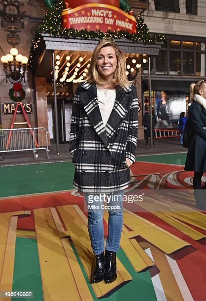 Singer Rachel Platten performs at the 89th Annual Macy's Thanksgiving Day Parade Rehearsals Day 2 on November 24 2015 in New York City