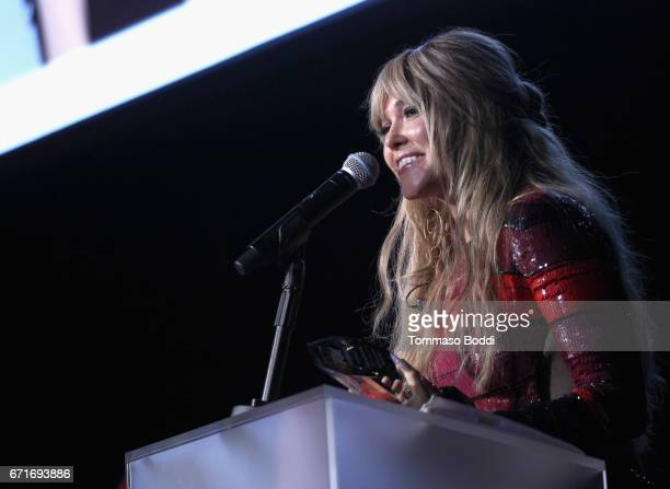 Singer Rachel Platten performs at The Humane Society of the United States' To the Rescue Los Angeles Gala at Paramount Studios on April 22 2017 in...