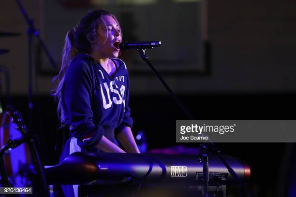 Singer Rachel Platten performs at the Team USA WinterFest Presented by Hershey's on February 19 2018 in Seoul South Korea