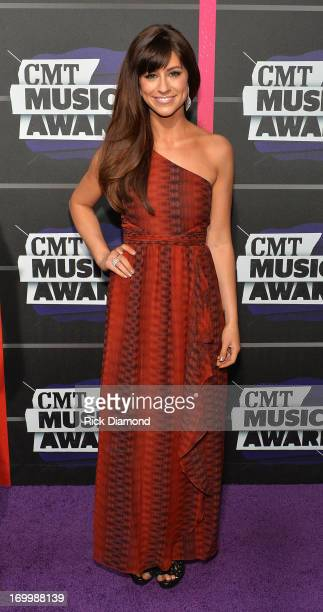 Singer Rachel Reinert attends the 2013 CMT Music awards at the Bridgestone Arena on June 5 2013 in Nashville Tennessee