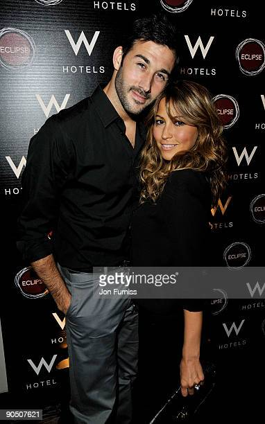 Singer Rachel Stevens and her husband actor Alex Bourne attend the party to celebrate the launch of the new Eclipse bar and lounge at W Barcelona at...