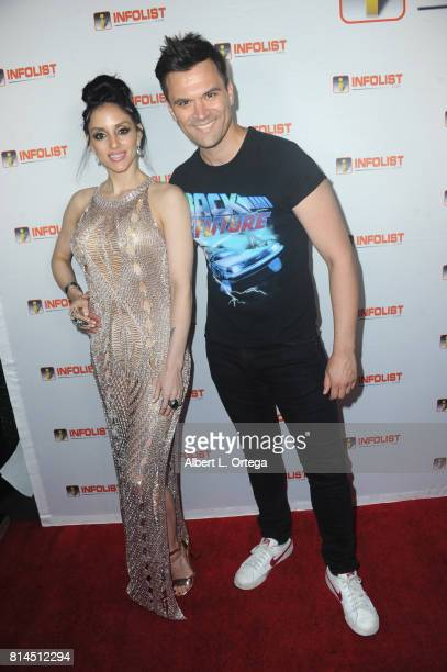 Singer Rachele Royale and actor Kash Hovey attend Jeff Gund's INFOLISTcom's Annual PreComicCon Party held at OHM Nightclub on July 13 2017 in...
