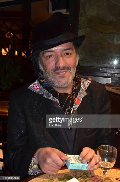 Singer Rachid Taha attends La Closerie des Lilas Litterary Awards 2012 5th Edition at La Closerie Des Lilas on April 3 2012 in Paris France