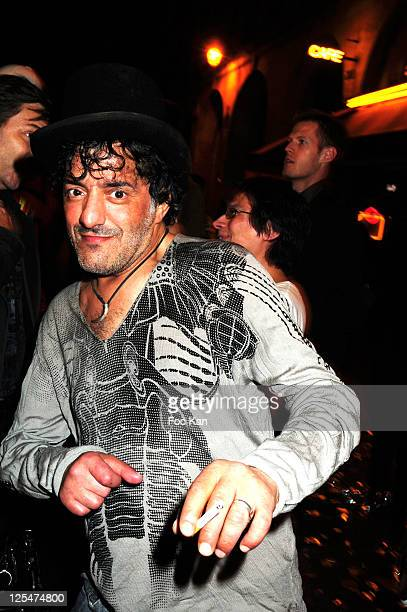 Singer Rachid Taha attends the Banana Cafe 20th Anniversary Party at Banana Cafe on September 20 2010 in Paris France