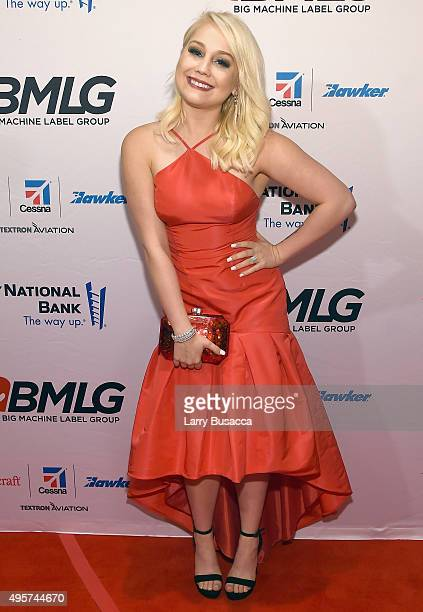 Singer RaeLynn attends as Big Machine Label Group celebrates The 49th Annual CMA Awards at Rosewall on November 4 2015 in Nashville Tennessee