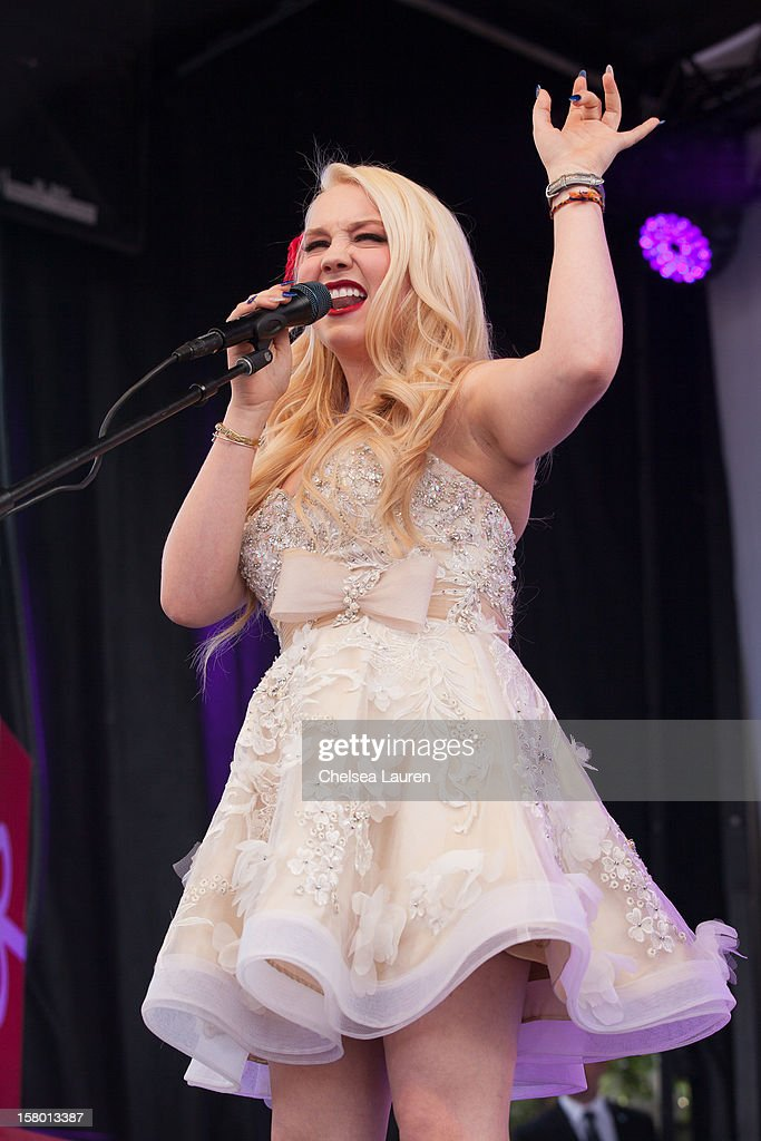 Singer RaeLynn performs at the JCPenney 12 day holiday giving tour performance at JCPenney on December 8, 2012 in Culver City, California.