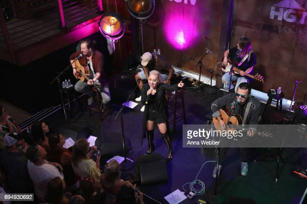 Singer RaeLynn performs onstage at the HGTV Lodge during CMA Music Fest on June 11 2017 in Nashville Tennessee